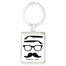 Hipster life Portrait Keychain