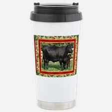 Black Angus Cow  Calf C Stainless Steel Travel Mug