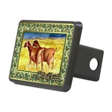 Dairy Goat Christmas Card Hitch Cover