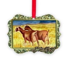 Dairy Goat Christmas Card Ornament
