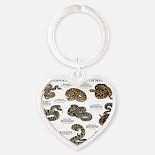 Rattlesnakes of North America Heart Keychain