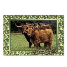 Highland Cow And Calf Chr Postcards (Package of 8)
