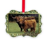 Cow christmas Picture Frame Ornaments