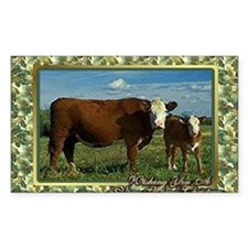 Hereford Cow And Calf Christma Decal