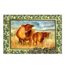 Red Angus Cow And Calf Ch Postcards (Package of 8)