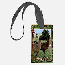 Llama Christmas Card Luggage Tag