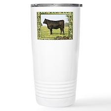 Black Angus Heifer Chri Travel Mug