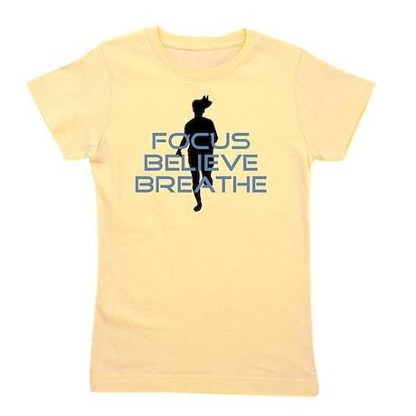 Blue Focus Believe Breathe Girl's Tee