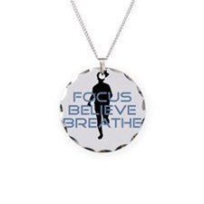 Blue Focus Believe Breathe Necklace
