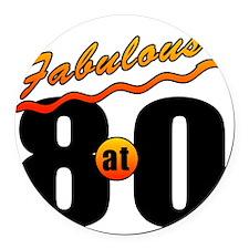 Fabulous At 80 Round Car Magnet