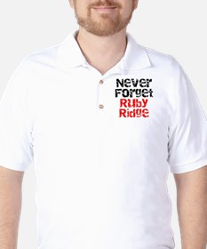Never Forget Ruby Ridge Golf Shirt