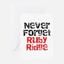 Never Forget Ruby Ridge Greeting Cards (Pack of 6)