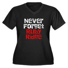 Never Forget Ruby Ridge Women's Plus Size V-Neck D