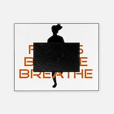 Orange Focus Believe Breathe Picture Frame
