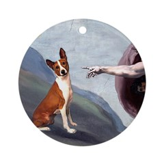 Creation of the Basenji Ornament (Round)
