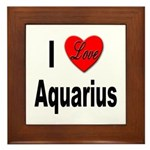 I Love Aquarius Framed Tile