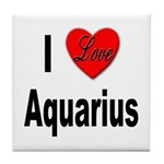 I Love Aquarius Tile Coaster