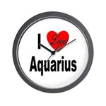 I Love Aquarius Wall Clock