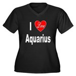 I Love Aquarius (Front) Women's Plus Size V-Neck D