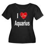 I Love Aquarius (Front) Women's Plus Size Scoop Ne