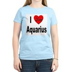 I Love Aquarius (Front) Women's Light T-Shirt