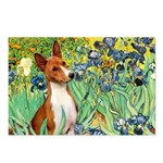 Basenji in Irises Postcards (Package of 8)