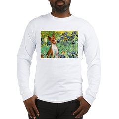 Basenji in Irises Long Sleeve T-Shirt