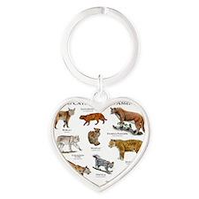 North American Wildcats Heart Keychain