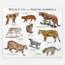 North American Wildcats King Duvet