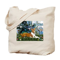 Lilies (1) with a Basenj Tote Bag
