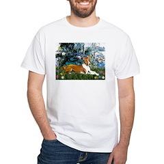 Lilies (1) with a Basenj Shirt