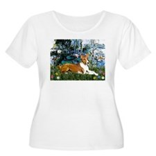 Lilies (1) with a Basenj T-Shirt