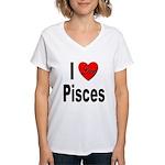 I Love Pisces Women's V-Neck T-Shirt