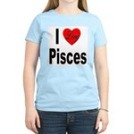 I Love Pisces (Front) Women's Light T-Shirt