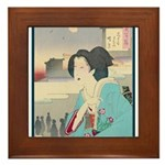 Japanese Art Framed Tile