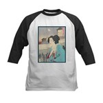 Japanese Art Kids Baseball Jersey