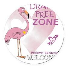pink_flamingo_large03 Round Car Magnet