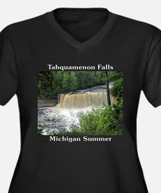Tahquamenon Falls Summer Women's Plus Size V-Neck