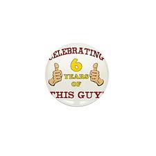Funny 6th Birthday For Boys Mini Button