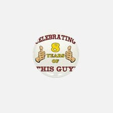 Funny 8th Birthday For Boys Mini Button