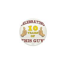 Funny 10th Birthday For Boys Mini Button