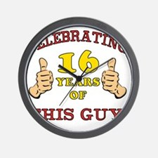 Funny 16th Birthday For Boys Wall Clock