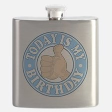 TODAY IS MY BIRTHDAY BLUE Flask