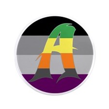 "Aromantic Asexual #1 3.5"" Button"