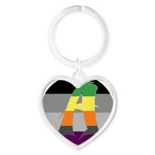 Aromantic Asexual #1 Heart Keychain