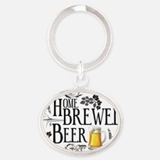 Home Brewed Beer Oval Keychain