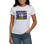 Starry Night & Basenji Women's T-Shirt