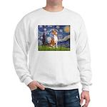 Starry Night & Basenji Sweatshirt