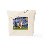 Starry Night & Basenji Tote Bag