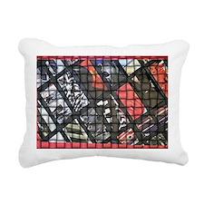Bucket A red collage wea Rectangular Canvas Pillow